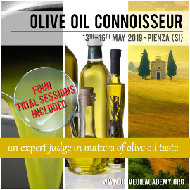 a banner with olive oil and landscape photos and the words