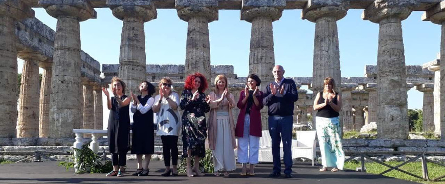 EVO IOOC judges at the archaeological site of Paestum