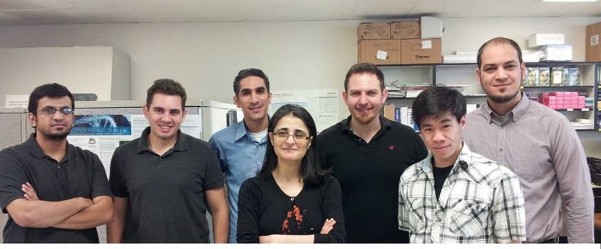 Dr. Amal Kaddoumi with her research team