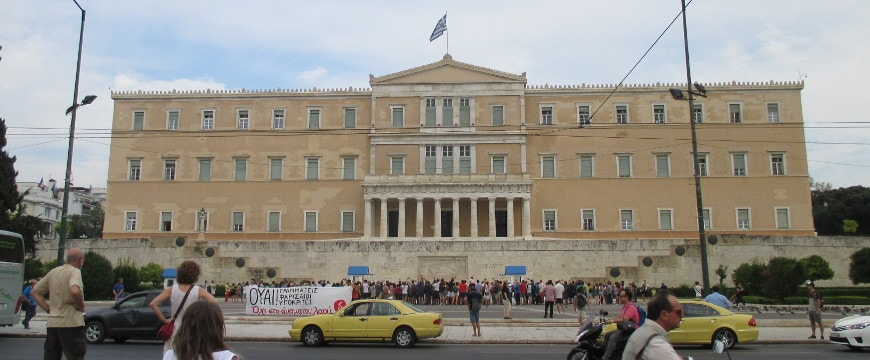 Greek parliament building, Syntagma Square, Athens