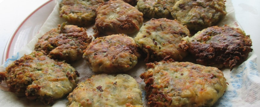 zucchini burgers on a plate