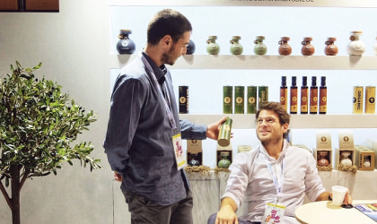 Panos and Thanos Kloutsiniotis in the Ladolea stand at SIAL Paris