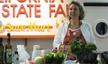 Alexandra Devarenne cooking at a California State Fair