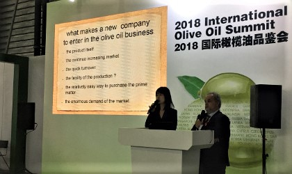 Kostas Liris giving his presentation at the FHC Olive Oil Summit