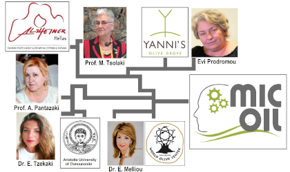 Photos and logos related to the participants in part 1 of the MICOIL study on olive oil and Alzheimer's