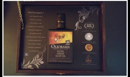 Oliorama olive oil bottle in special gift box