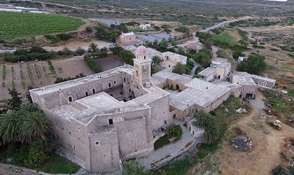 Toplou Monastery compound viewed from above